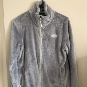 North Face women's fuzzy zip up